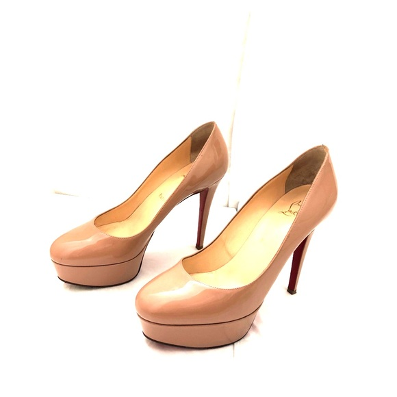 885dbae772 Christian Louboutin Shoes | 140 Patent Leather Pumps Nude | Poshmark